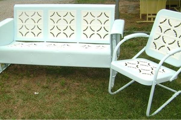 How to Paint Cast Aluminum Patio Furniture   eHow com is part of Vintage outdoor furniture - You can improve the appearance of cast aluminum patio furniture by refinishing it with the appropriate coating  However, you need to take into consideration that cast aluminum is nonporous, which means that paint will not adhere to the surface