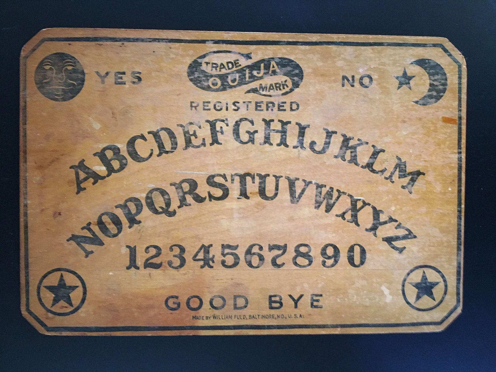 Original Antique William Fuld Ouija Board 1915 1918 Seance Fortune