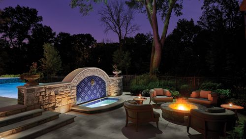 Chicago Suburban Estate Landscape Architecture, Design by ... on For Living Lawrence Fire Pit id=58234