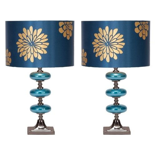 Aspire Home Accents Vernon Table Lamp Set Blue Lamp Sets Bubble Table Lamp Table Lamp Sets