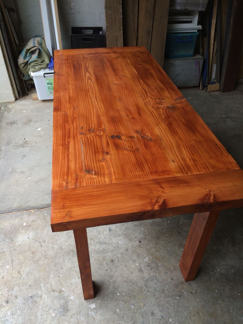 Stained timber dining table check out my woodwork for sale on ebay