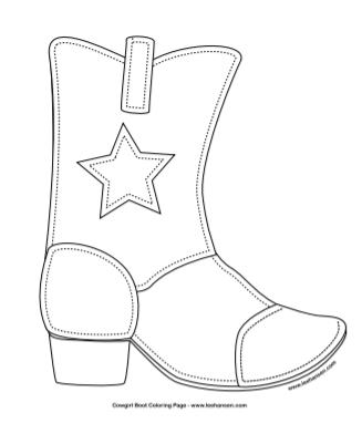 Cowboy Boot Coloring Sheet Printable Cowboy Boot Crafts Templates Printable Free Cowboy Boots