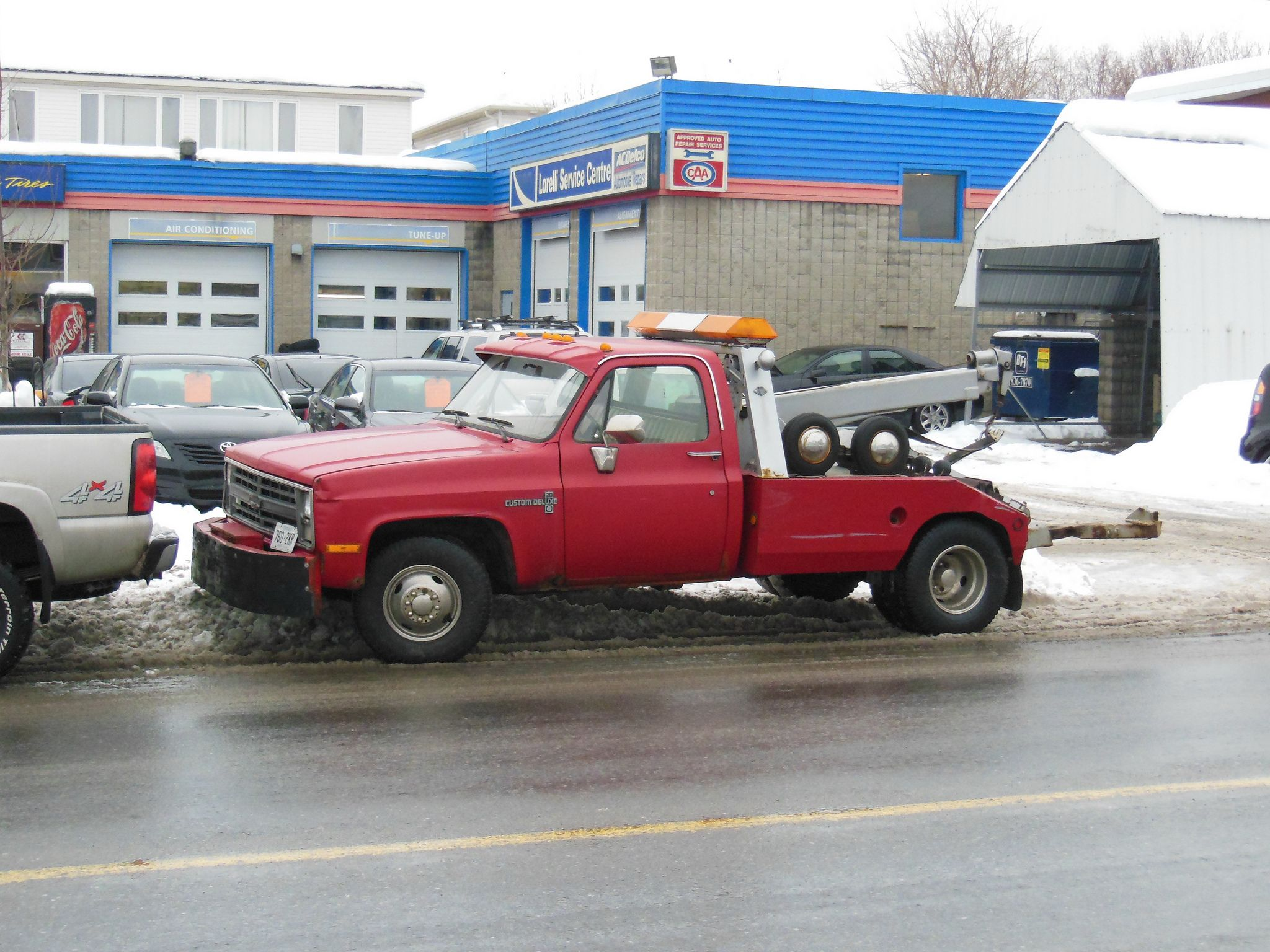 Red Chevy Custom Deluxe 30 Tow Truck With A Vulcan Body Ottawa