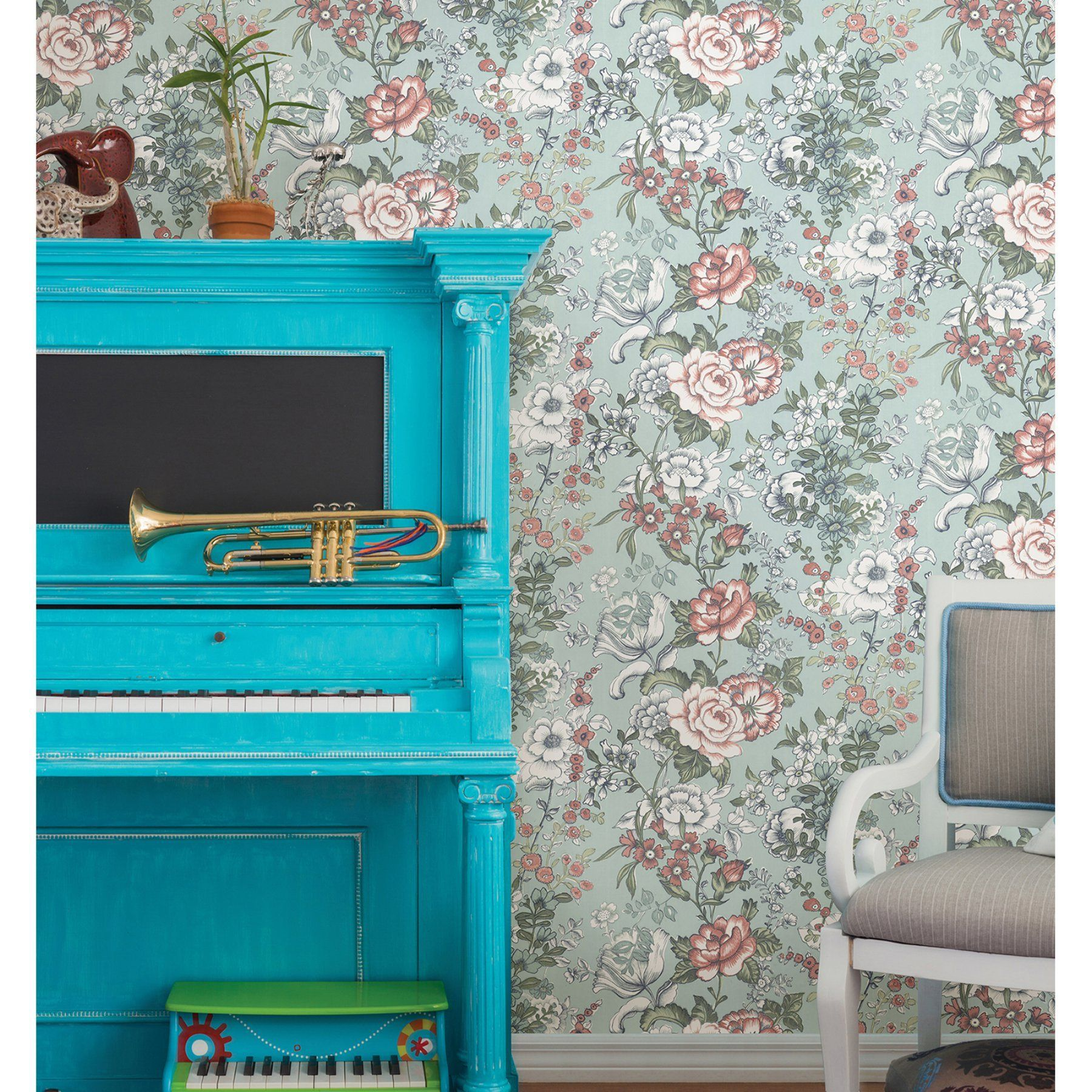 A  Street Prints Kismet Ainsley Boho Floral Wallpaper