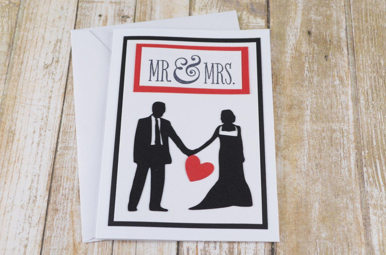 Newlywed Card Wedding Greeting Card Mr And Mrs Wedding Card