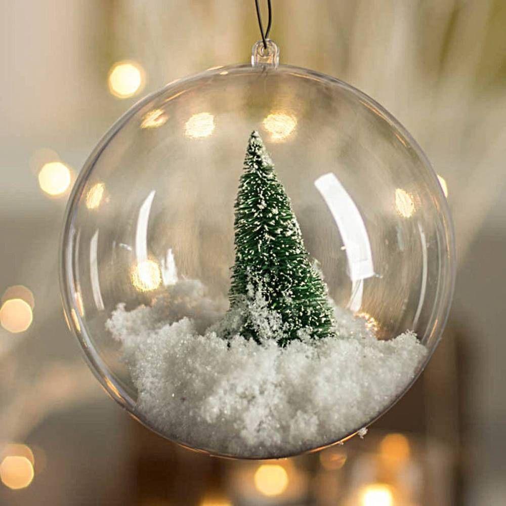10xclear Plastic Craft Ball Acrylic Transparent Sphere Bauble Christmas Baubles Adornos De Navidad Ideas Bolas De Navidad Personalizadas Bolas De Navidad