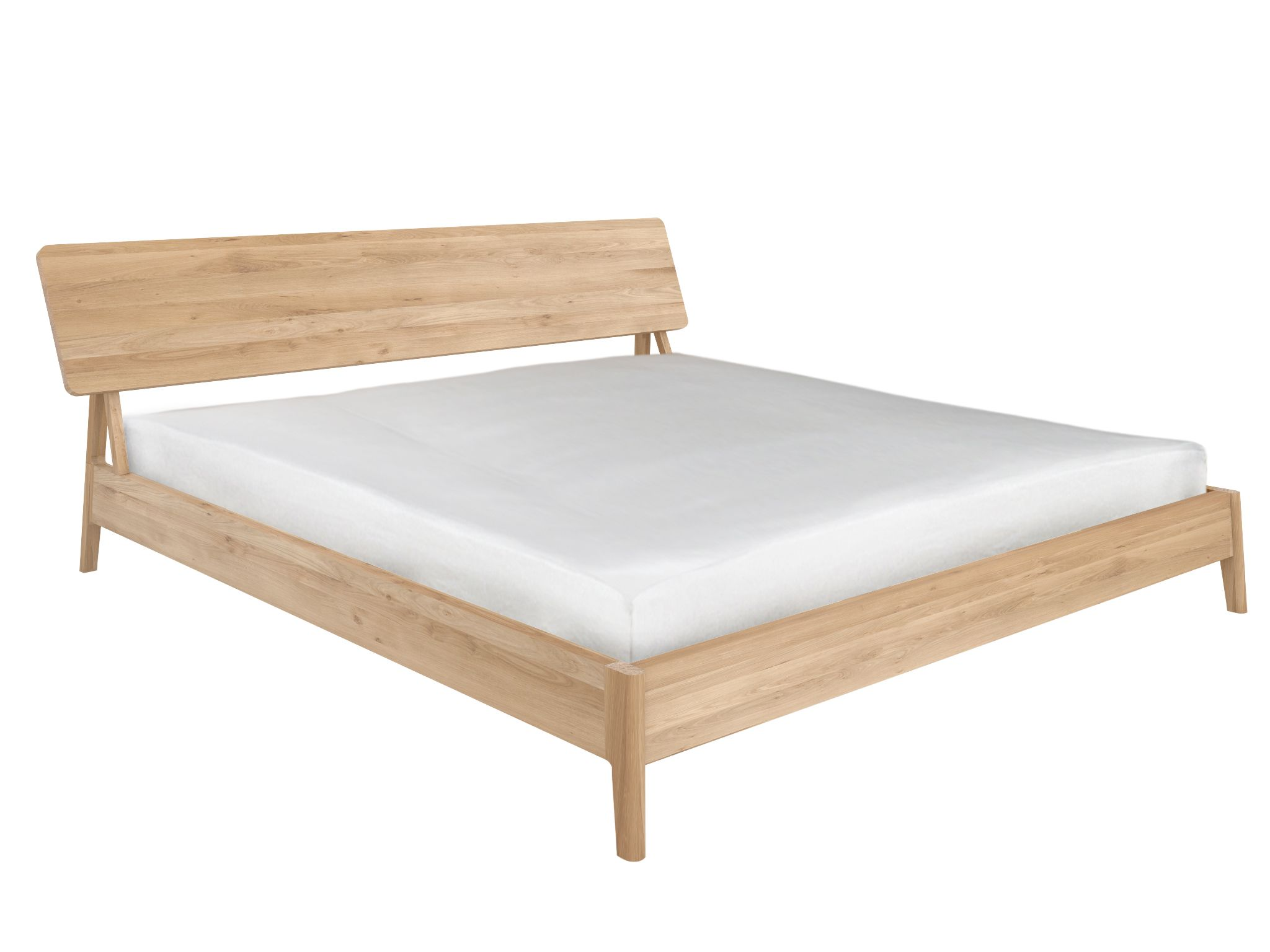 Andie Platform Bed Oak With Images Retro Bed Air Bed Furniture