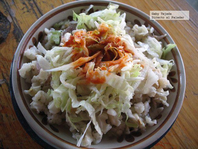 Plato de pozole blanco  Cocina mexicana y casera  Pozole blanco Pozole y Cocina mexicana