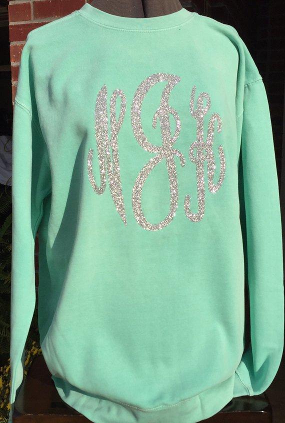 Monograms Image By Jessica In 2020 Comfort Colors Sweatshirt