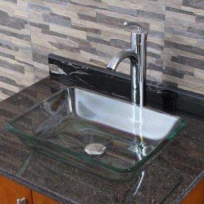 Elimaxs Elite Glass Rectangular Vessel Bathroom Sink in 2018