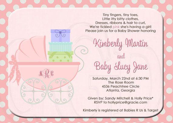 Baby Shower Invitation Or Sprinkle Invitation  Digital File