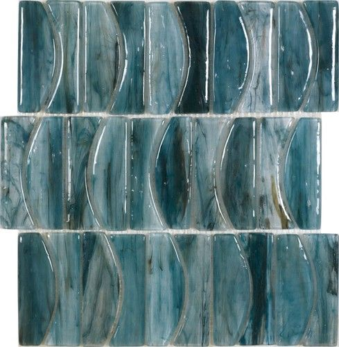 Avenue Mosaic Groove Blues By Michael Golden For Dune Mosaic