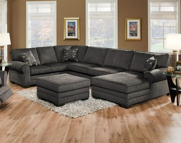 Deluxe Charcoal 2 Piece Sectional Living Rooms