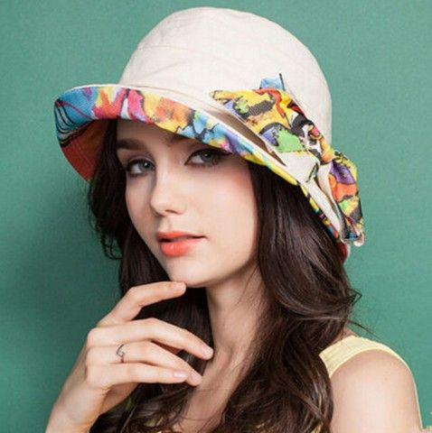 Flower bow bucket hat package ladies sun hats for summer outdoor wear c116f73e258f