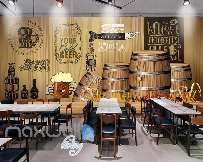 Wine Cellar Barrels Wall Mural Food /& Drink Photo Wallpaper Kitchen Home Decor