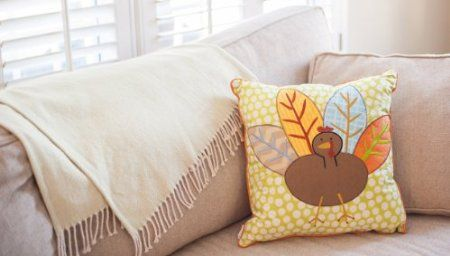 Turkey Square Pillow