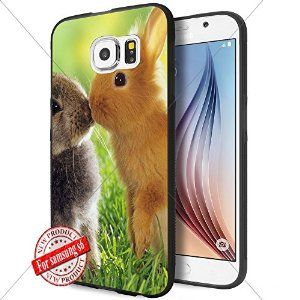Animals WADE7639 Samsung s6 Case Protection Black Rubber Cover Protector
