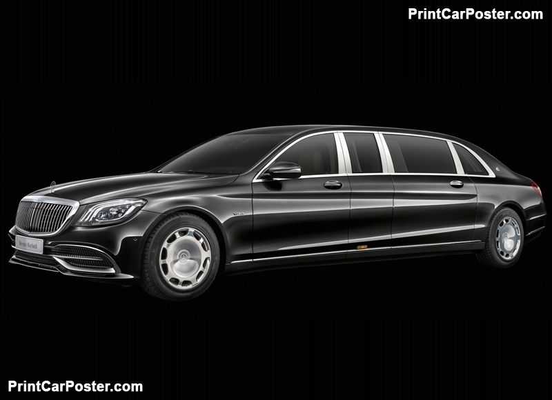 Mercedes Benz S650 Pullman Maybach 2019 Poster Maybach Mercedes