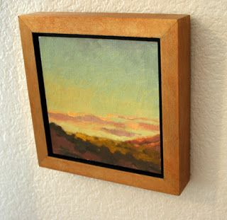 How To Make Simple Floater Frames For Your Plein Air Paintings Frames For Canvas Paintings Plein Air Paintings Painting Frames