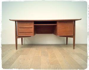 Bureau Scandinave En Teck Arne Vodder Editeur H P Hansen Mobilier De Salon Decoration Vintage Mobilier