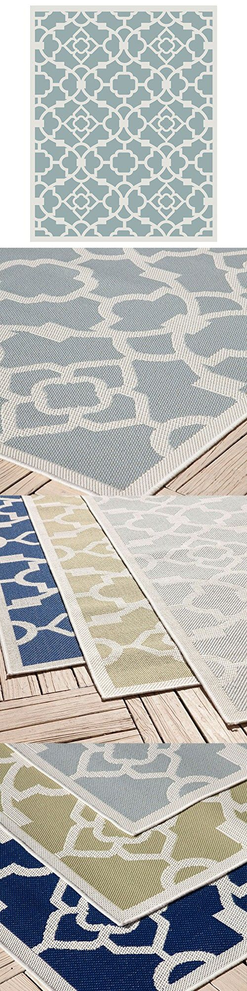 Empirepatio Monaco Outdoor Patio Rug Rug810gy1 8 Long X 10 Wide Slate Gray Outdoor Rugs Patio Patio Rugs Outdoor Patio