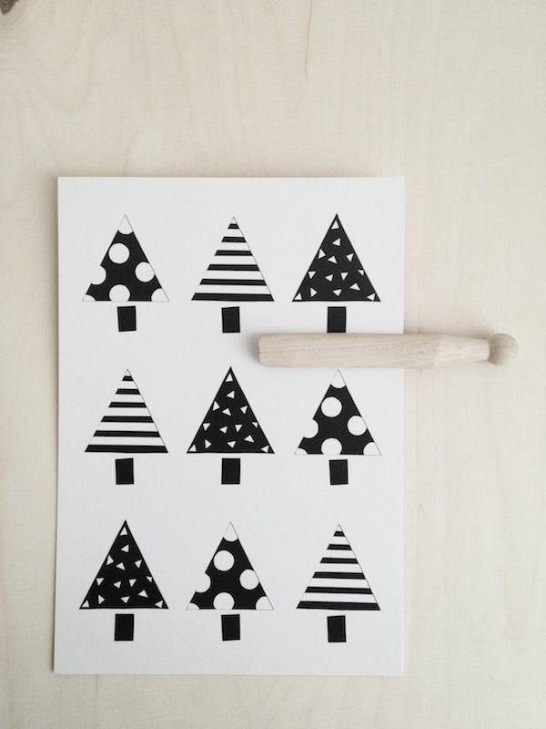 Pin by Hannele Kinnunen on diy Pinterest Xmas, Christmas cards - christmas cards black and white