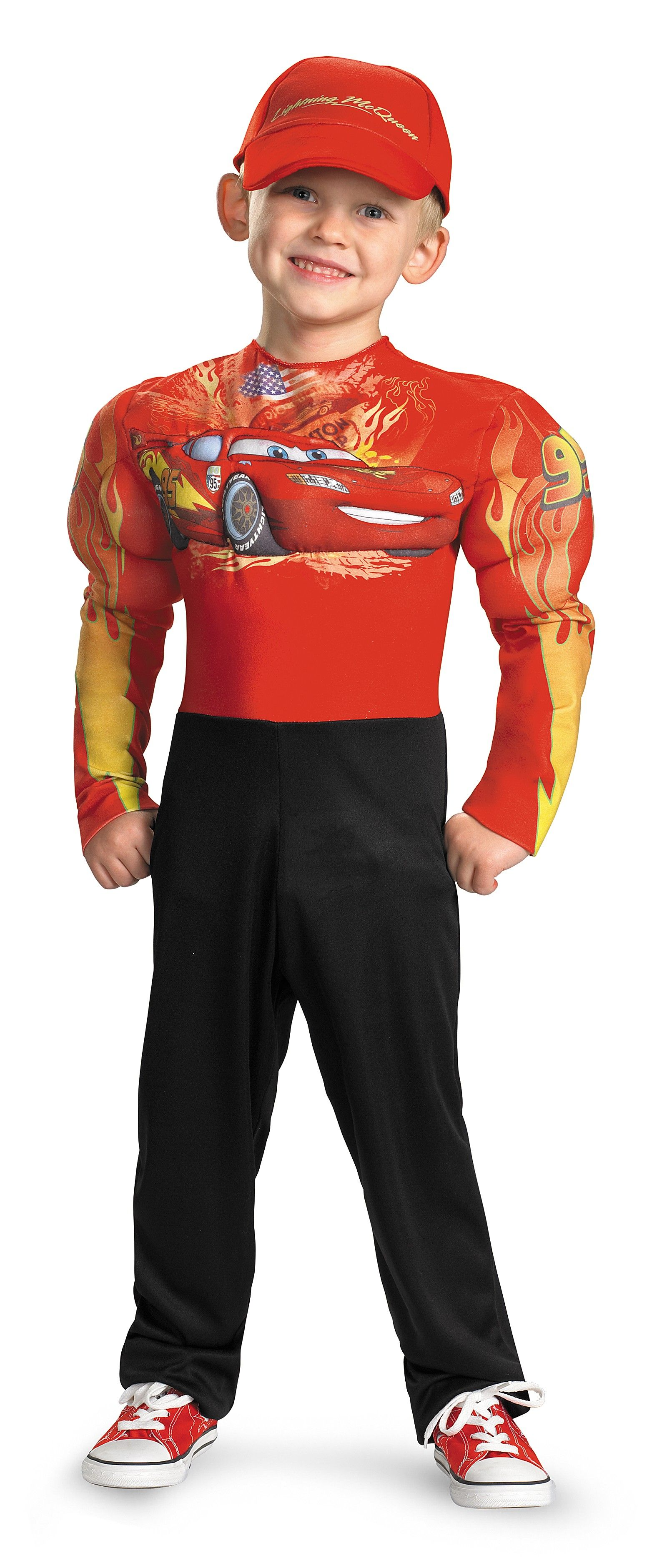 Cars 2 - Lightning McQueen Muscle Toddler / Child Costume | Disney ...