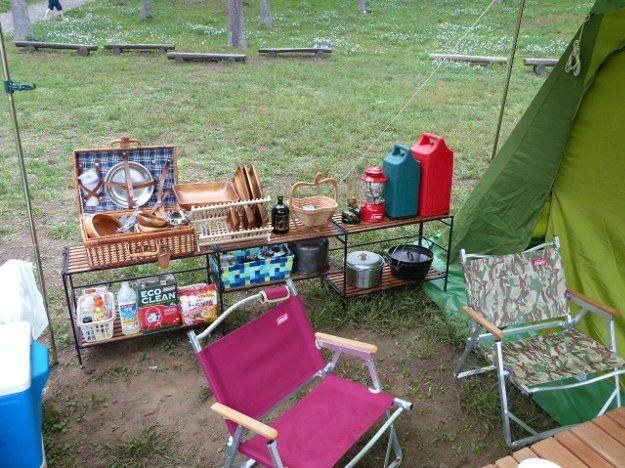 ロースタイルキッチンテーブルを考える キャンプ ロースタイル アウトドアキャンプ アウトドアインテリア
