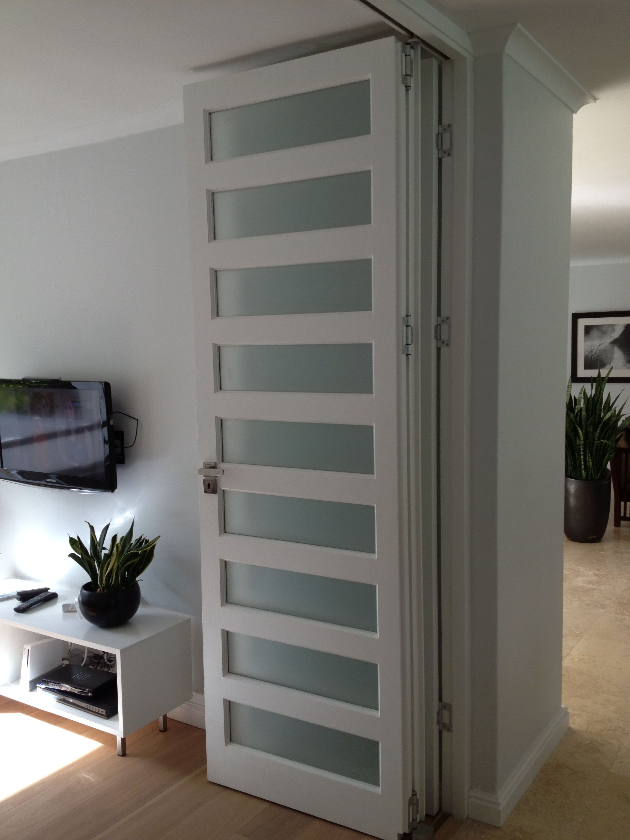 Folding room divider by door and window decor www for Room divider art