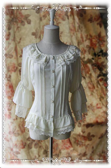 a377064f89aec Infanta Chiffon Lolita Blouse in White