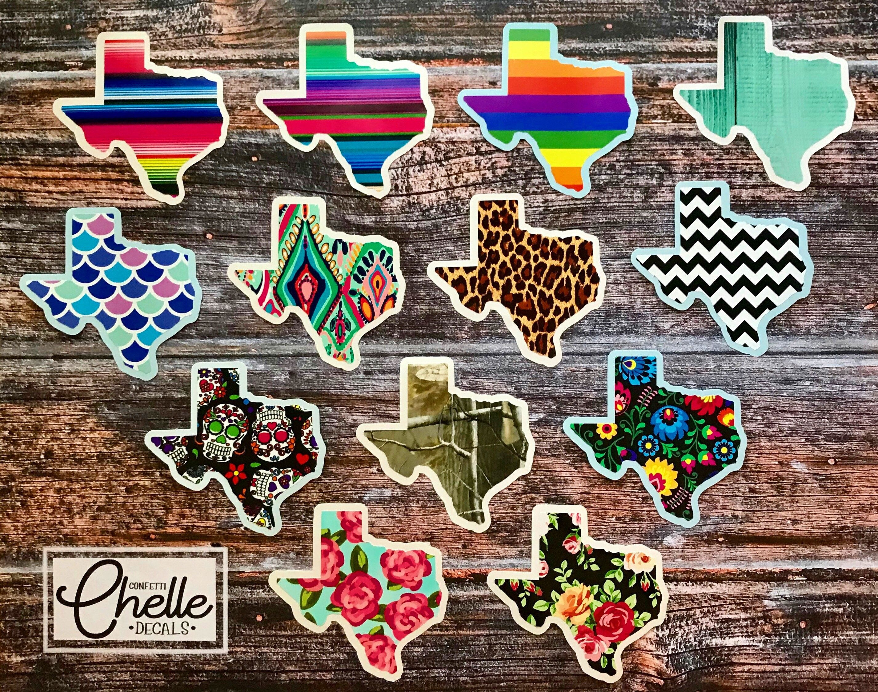Texas Pattern Vinyl Yeti Decal Sticker Car Decal