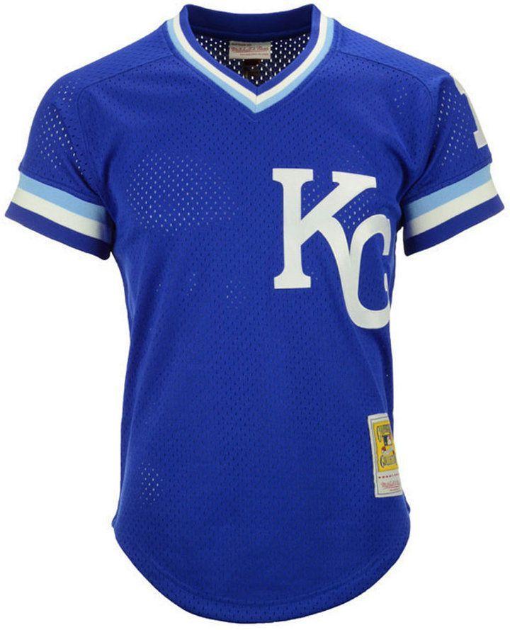 100% authentic 3b795 83dfd Mitchell & Ness Men Bo Jackson Kansas City Royals Authentic ...