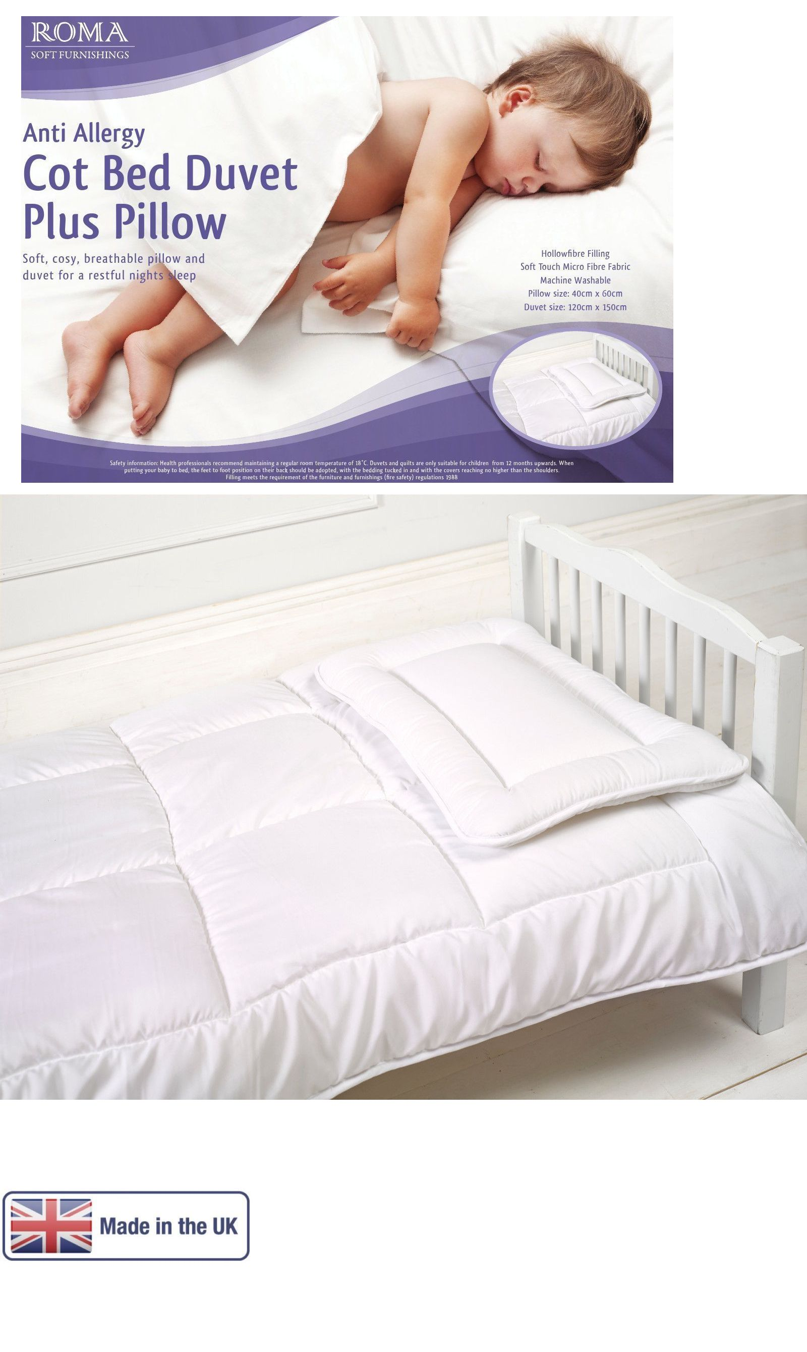 duvet inserts 18646 luxury anti allergy baby cot bed duvet and free