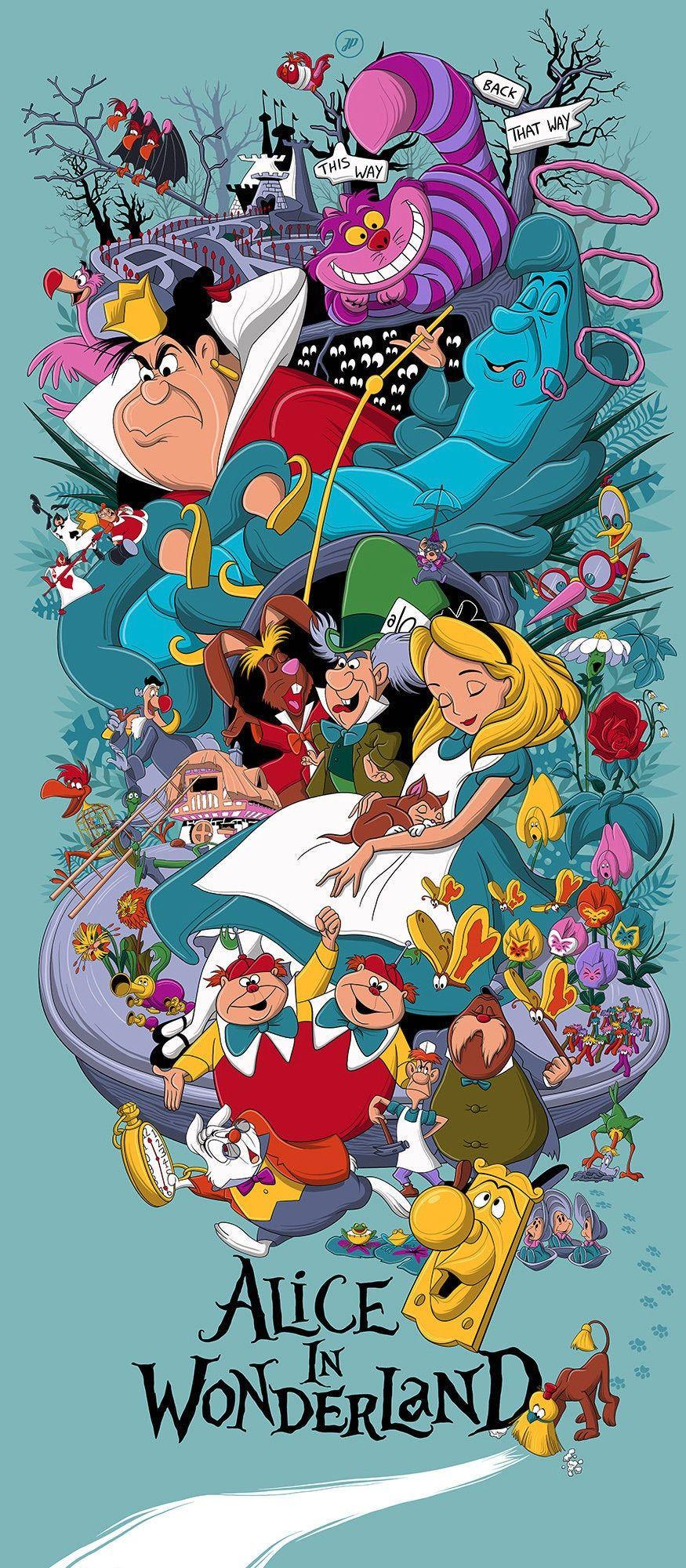 Alice In Wonderland Poster Disney Art Alice In Wonderland Drawings Alice In Wonderland Illustrations Alice In Wonderland Poster