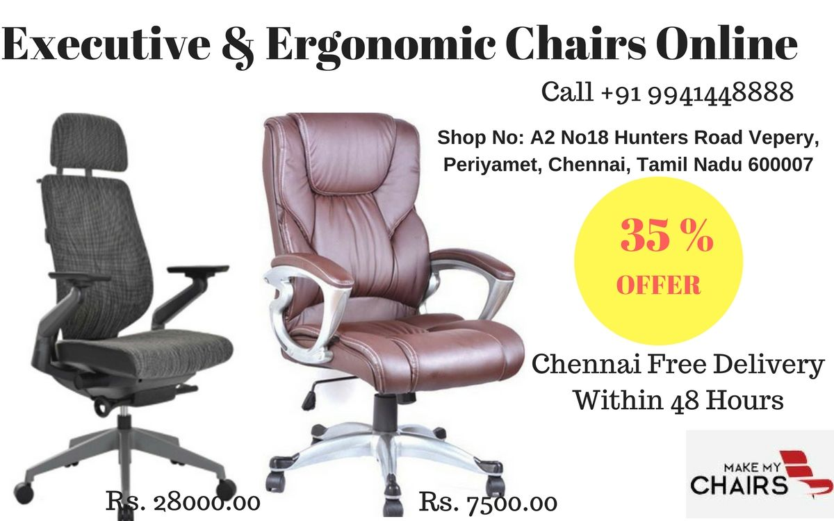 We provide a wide range of executive chairs and ergonomic