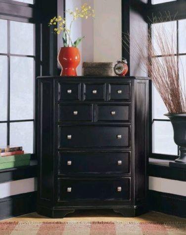 Black Corner Dresser