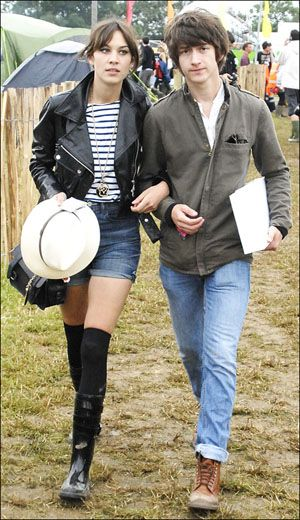 Alexa Chung with Alex Turner