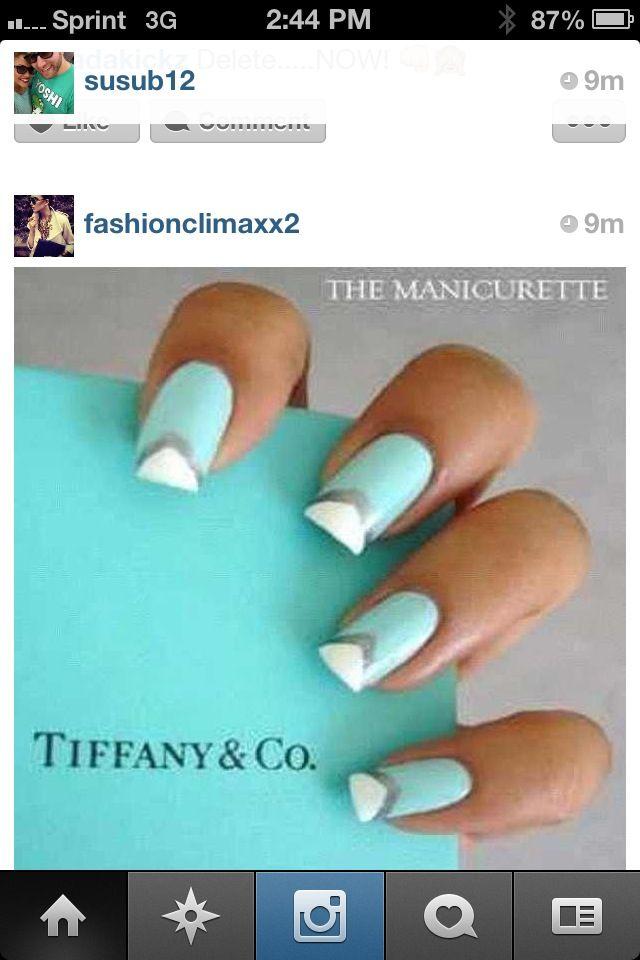 Tiffany Style Nail Design