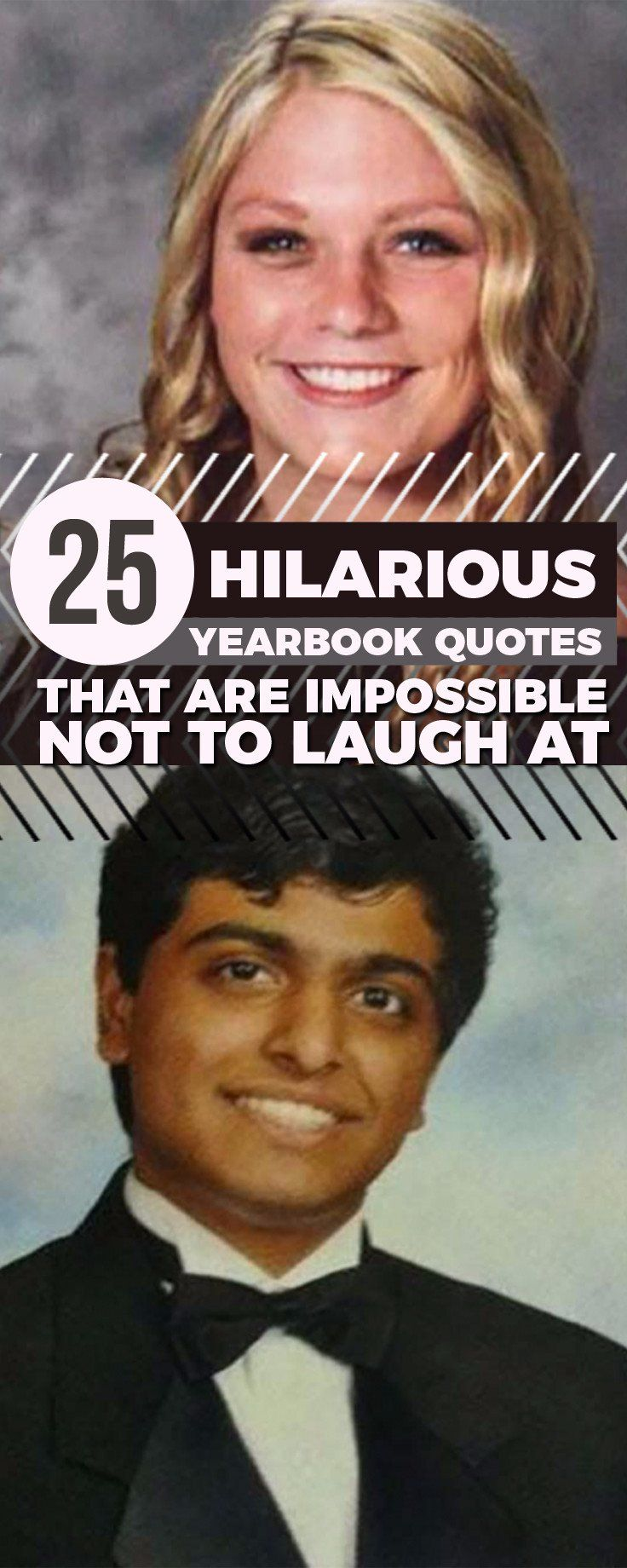 25 Hilarious Yearbook Quotes That Are Impossible Not To Laugh At Yearbook Quotes Hilarious Sneakers Men Fashion