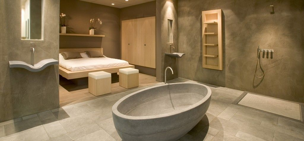 Beton Badkamer   Kugukent   Pinterest   Bathroom designs, Interiors ...