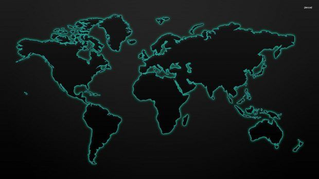 Black World Map Wallpaper 3 World Map Wallpaper Map Wallpaper World Map Outline