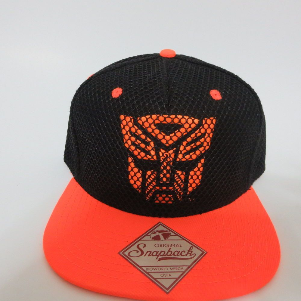 Transformers Black Hat Cap Snapback MARVEL COMICS AUTOBOTS Orange Bil HAT