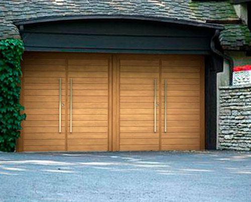 Wooden Swing Garage Door Parma Urban Front Ltd Diy Garage Door Garage Doors Contemporary Garage Doors