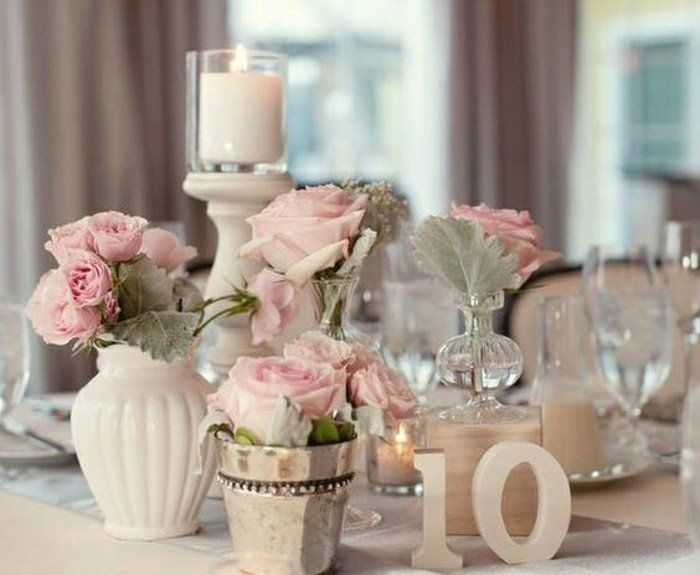00 deco de table pas cher nappe beige decoration table mariage