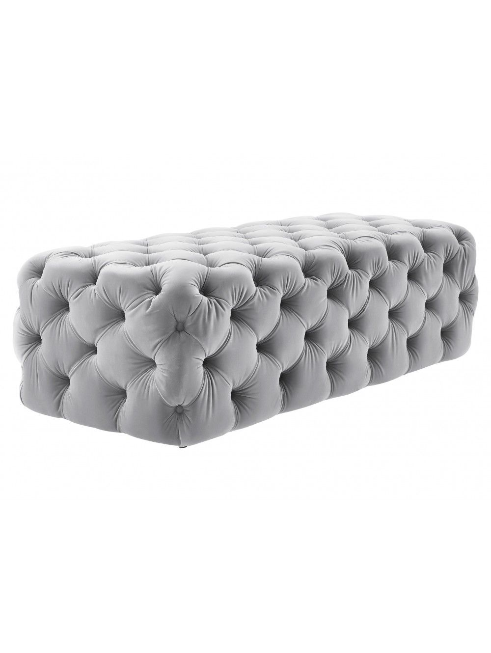 dunam velvet ottoman gray ottomans spaces and room