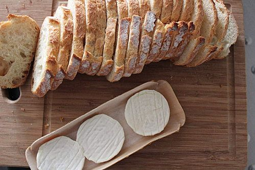 bread + goat cheese