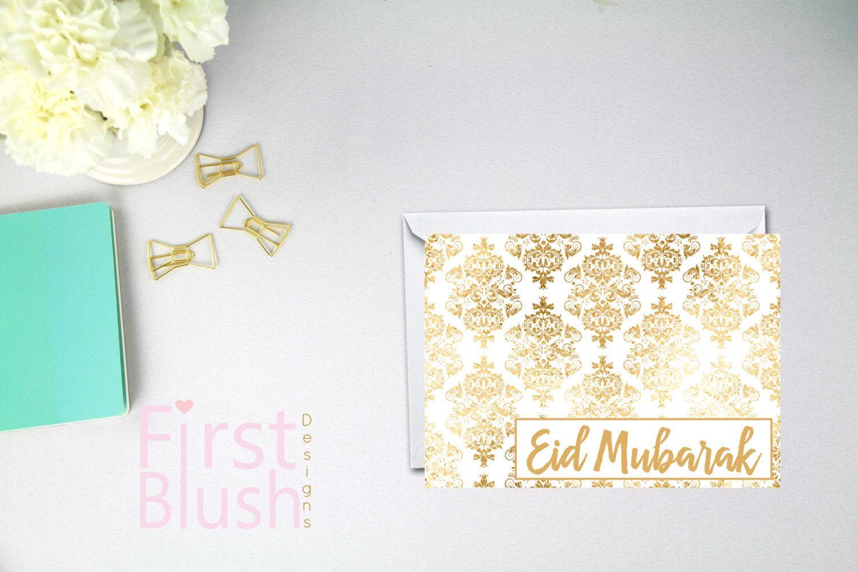 gold damask eid greeting card eid mubarak card happy eid