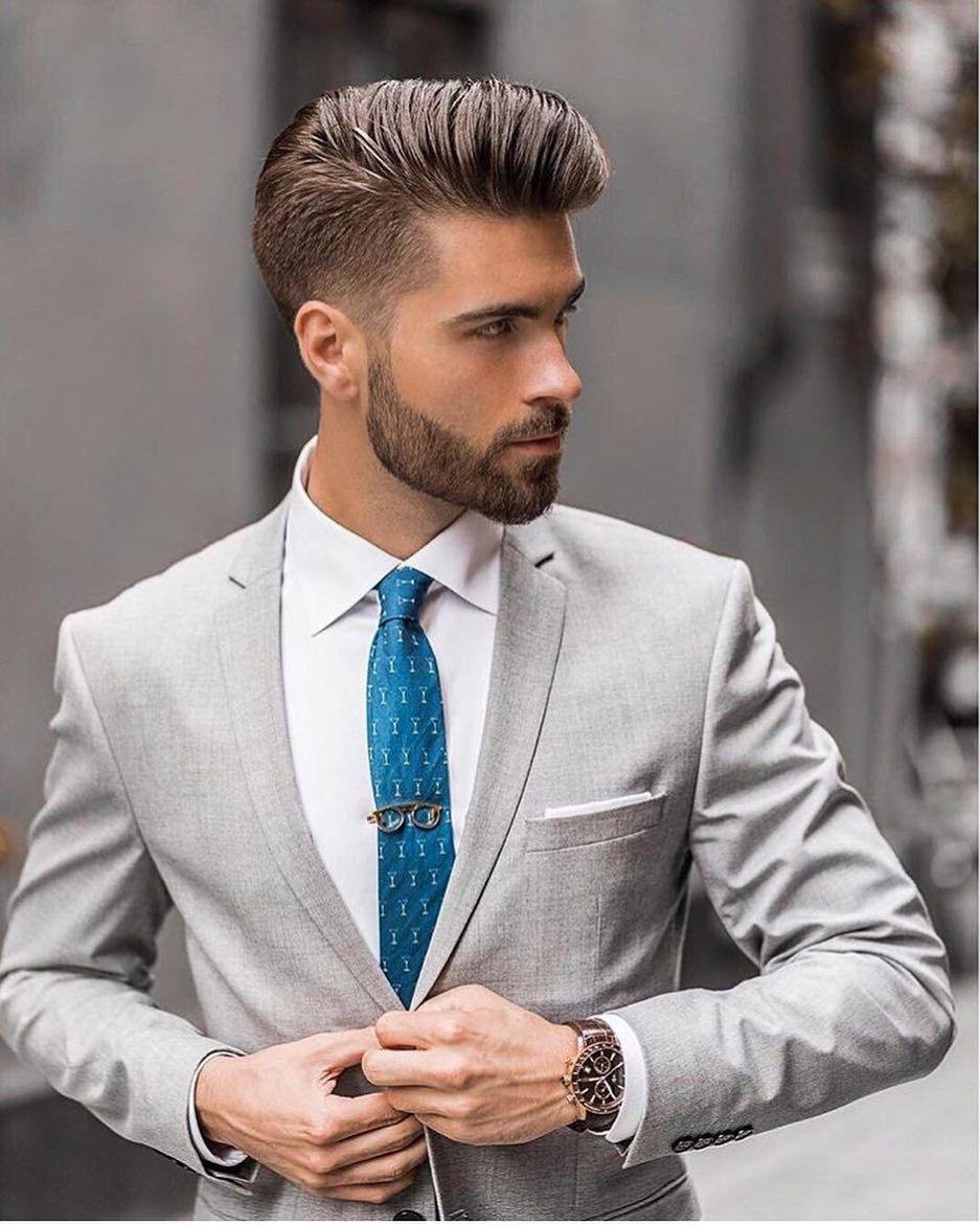 suit style men | formal hairstyles men, groom hair styles