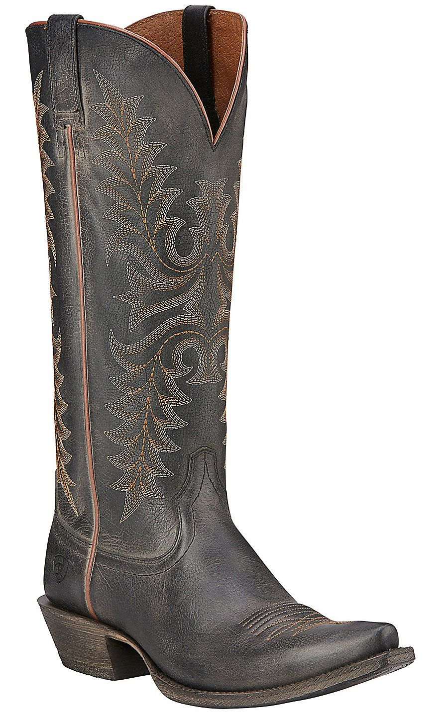 Snip toe cowgirl boots