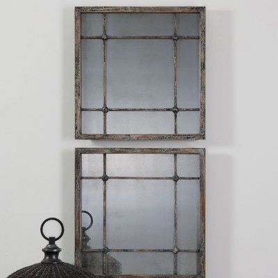 August Grove Square Wall Mirror Products Pinterest - muebles de pared